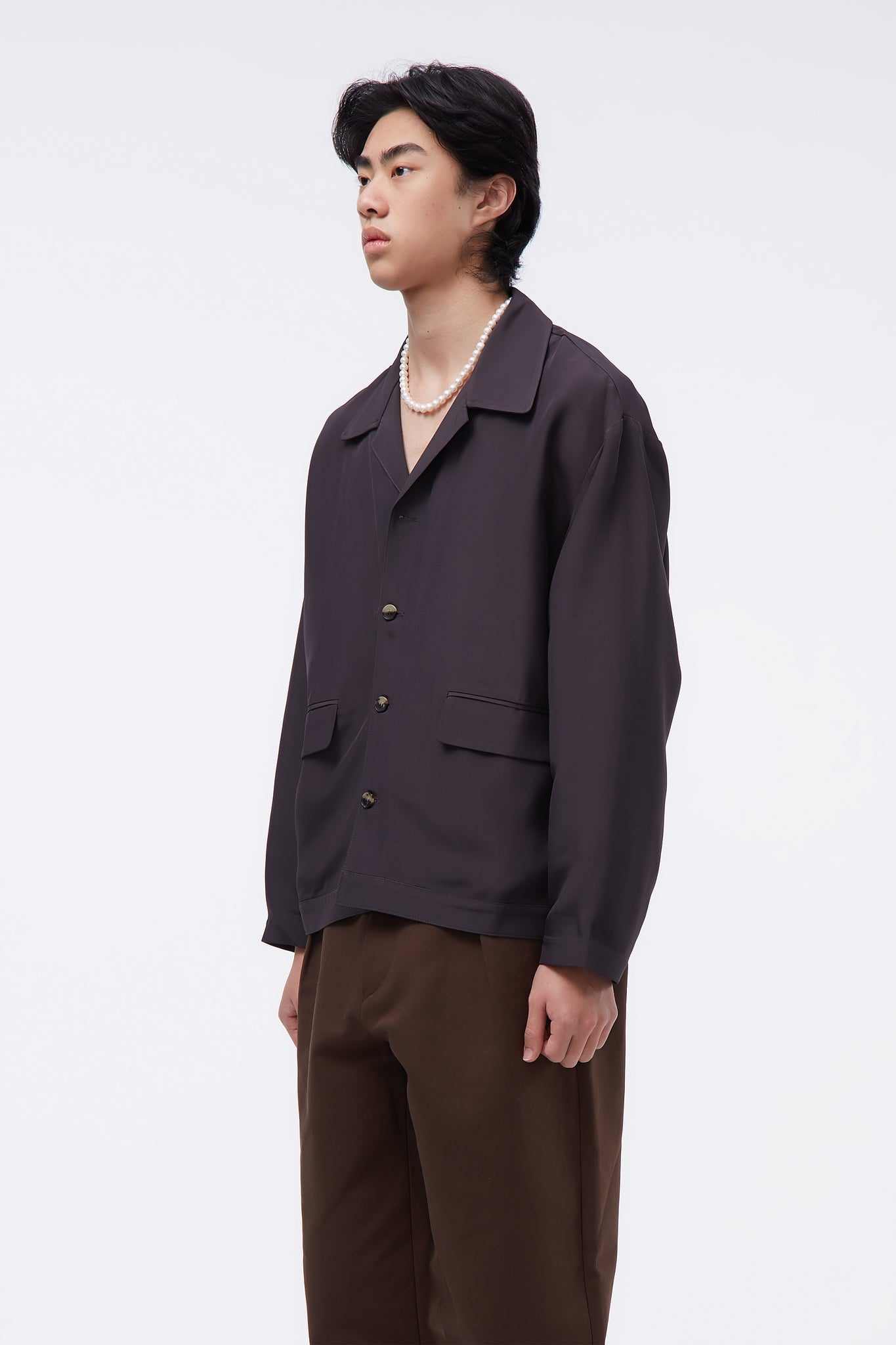 Calo/Shirt Jacket Ash