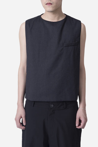 Komakino - Wool Sleeveless Vest Grey