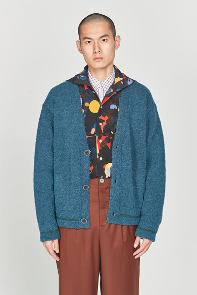 Closed Window - Kurt Layered Cardigan Eclipse Blue