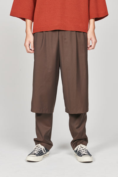 Closed Window - Geoff Double Layered Trouser Espresso Brown