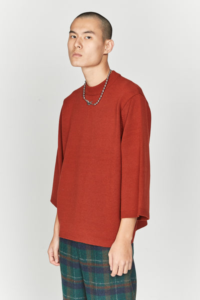 Coli Quarter Sleeve Crew Spiced Orange
