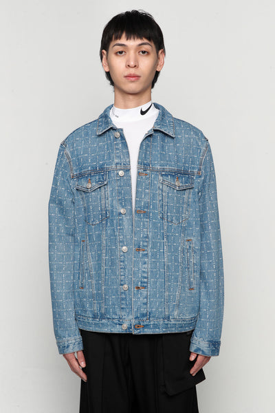 Alyx - Logo Check Denim Jacket