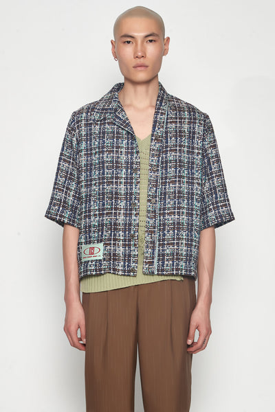Needle In The Sea - Bunun Cardigan Worker Shirt Gossamer Green Galaxy