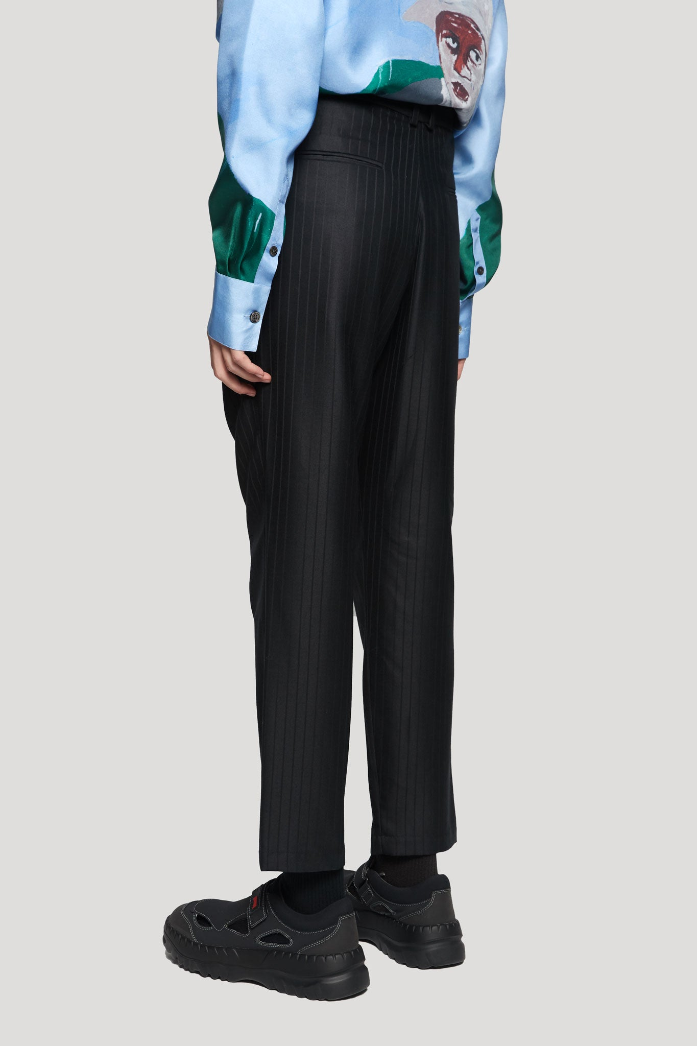 Ritz Formal Slim Trouser Dry Onyx Muted Stripe