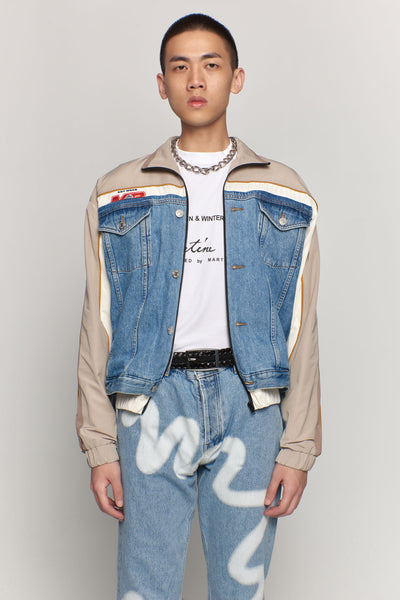 Martine Rose - Hybrid Track Jacket Light Denim