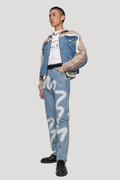 Hybrid Track Jacket Light Denim