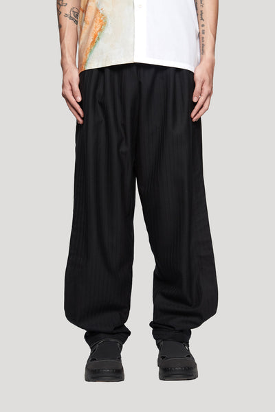 Needle In The Sea - Geoff Double Layer Warm Up Open Shorts Dry Onyx Muted Stripe