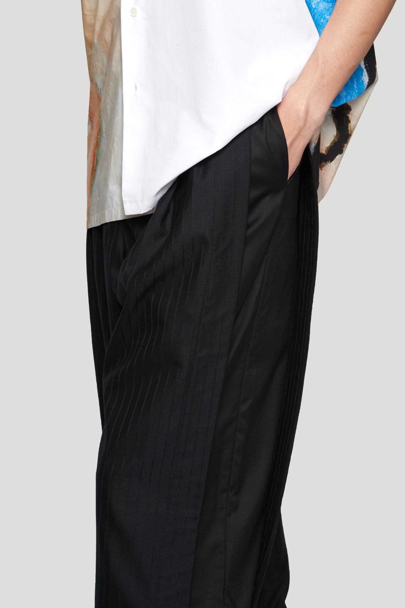 Geoff Double Layer Warm Up Open Shorts Dry Onyx Muted Stripe