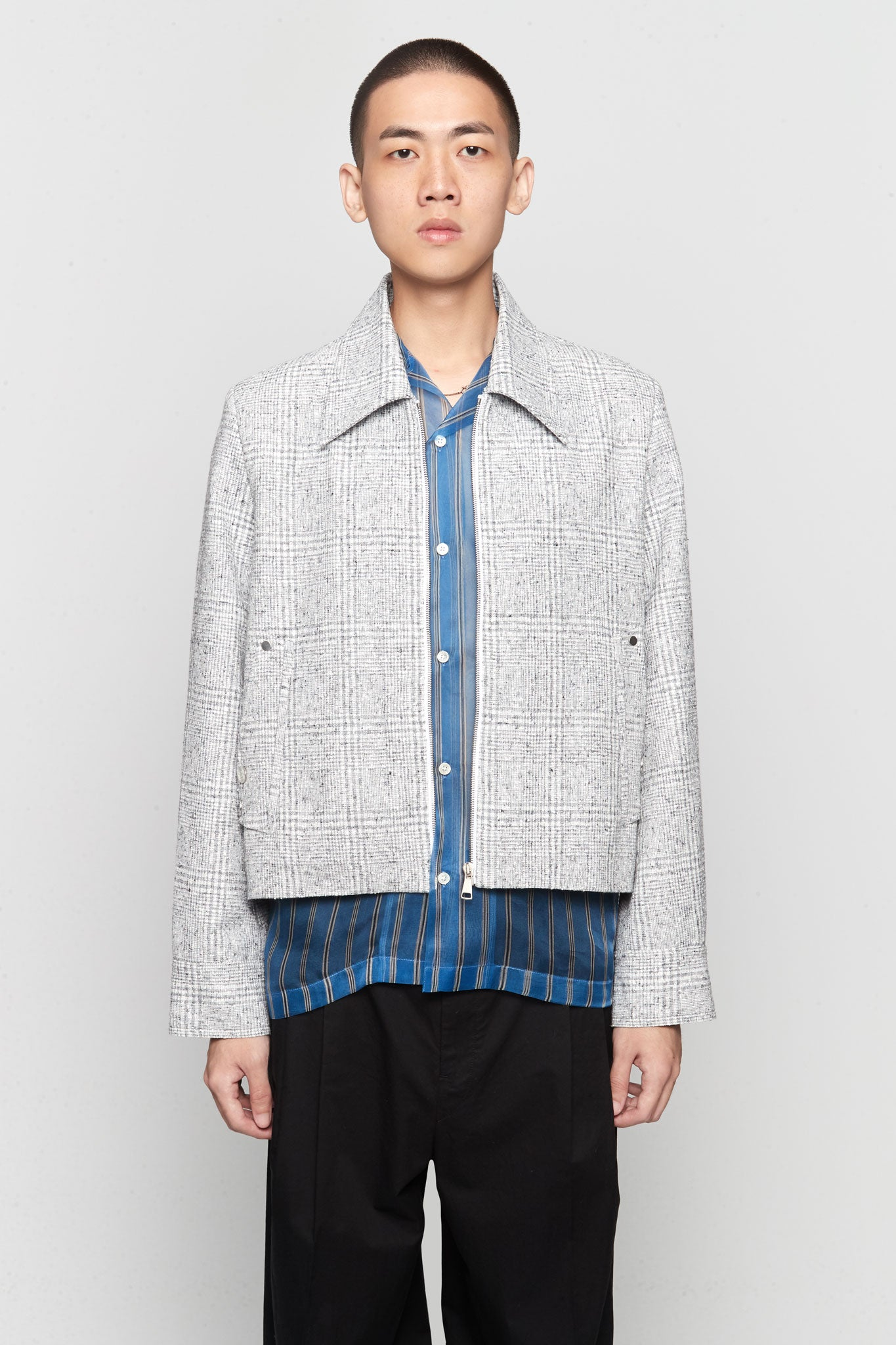 Manchester Cropped Jacket Silver Heaven Plaids