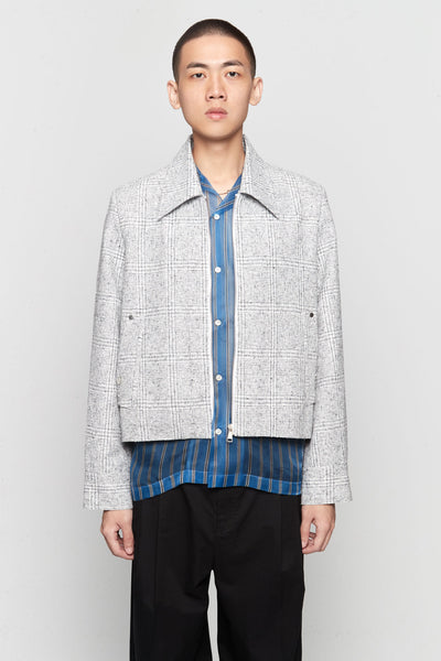 Needle In The Sea - Manchester Cropped Jacket Silver Heaven Plaids