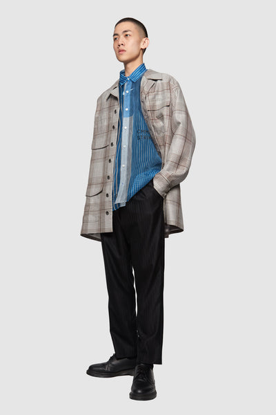 Wil Oversized Shirt Silver Soil Oversized Plaids