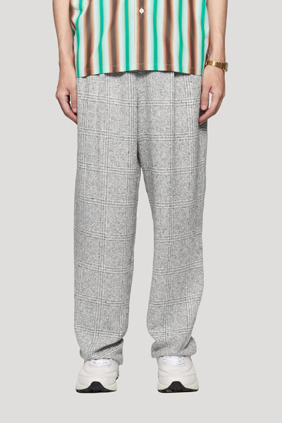Needle In The Sea - Mich Pleats Straight Trouser Silver Heaven Plaids