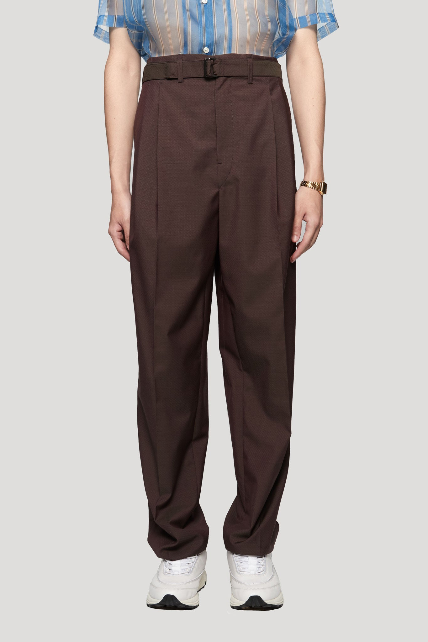 Pleated Pants Aubergine