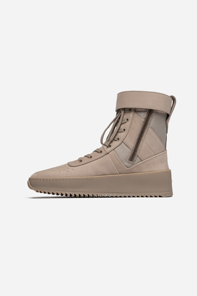 Military Leather Sneakers Desert Beige