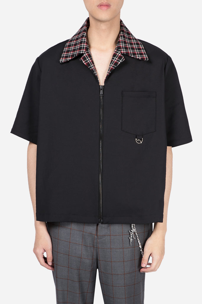 Saffron Worker Zip Shirt Dry Onyx