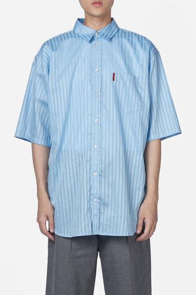 Martine Rose - Oversized Short Sleeve Shirt Blue Lake Stripe