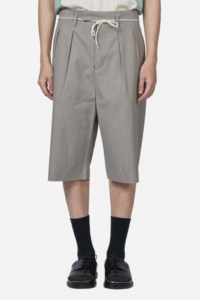 Maison Margiela - Sand Check Elongated Short