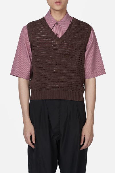 Maison Margiela - Brown Knit Sleeveless Vest