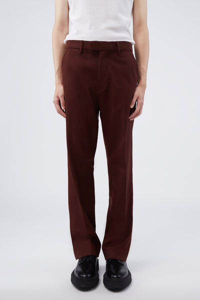 Second / Layer - WV Navy Tailored Bootcut Wine