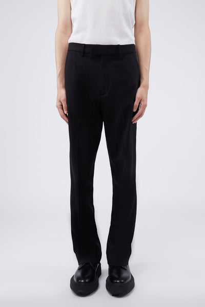 Second / Layer - WV Navy Tailored Bootcut Black