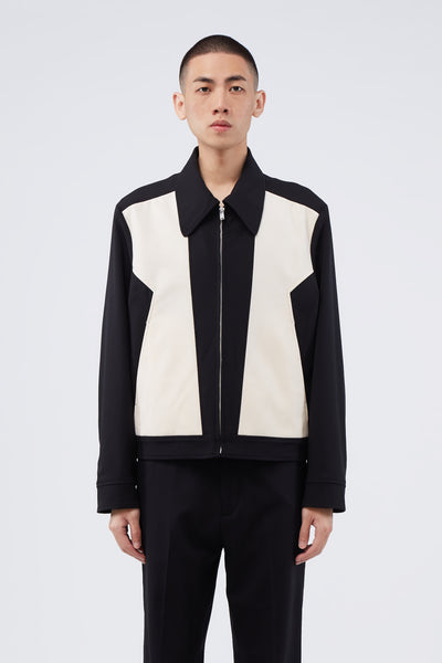 Second / Layer - Zig Zag Paneled Jacket Black/Ivory