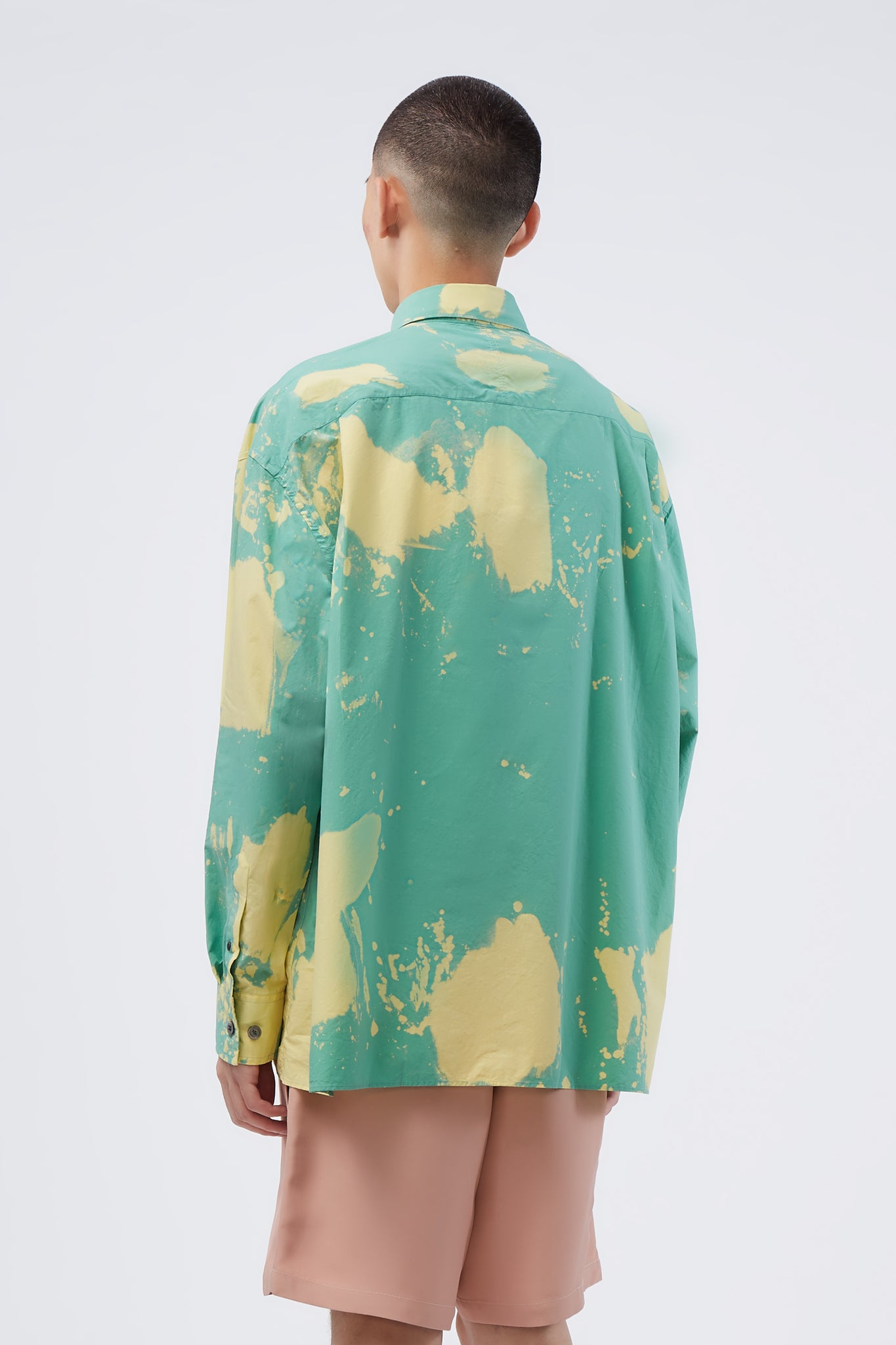 Illusion Mint Bleached Shirt