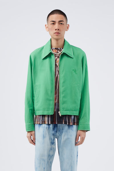 Second / Layer - Rocker Blouson Green