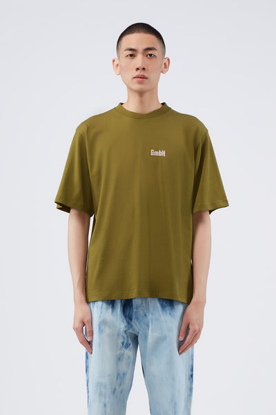 GmbH - Birk Screen Printed T-shirt Khaki