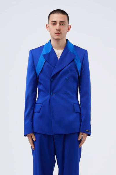 GmbH - Thulium Tailored Jacket W Extended Top Lapel Blue