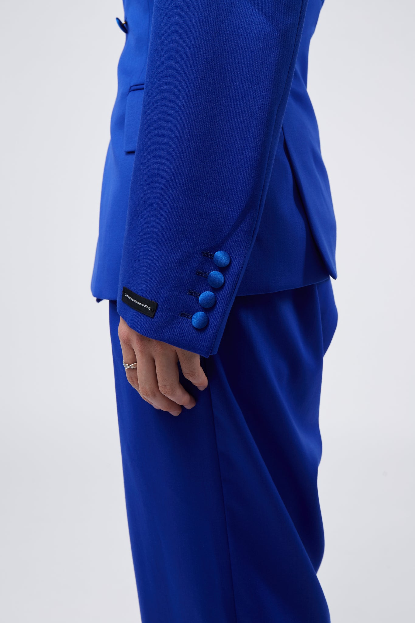 Thulium Tailored Jacket W Extended Top Lapel Blue