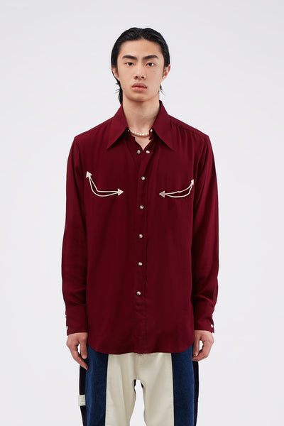 Second / Layer - Western Corno Snap Shirt Wine Tasting
