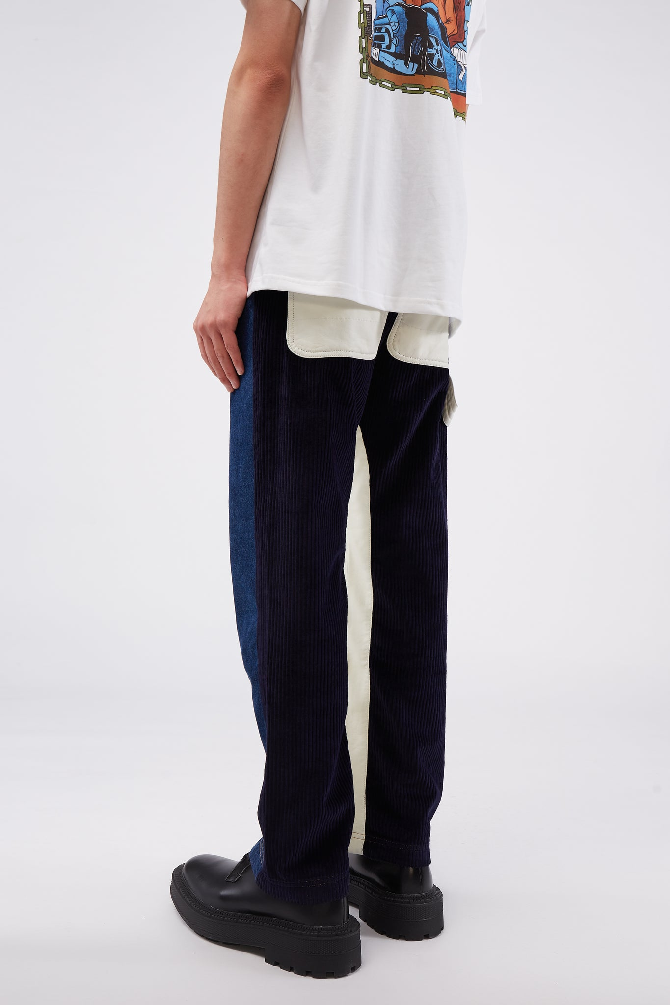 Denim Pant Navy/White
