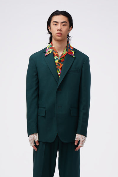 Marni - Single-breasted Blazer Bayberry Green