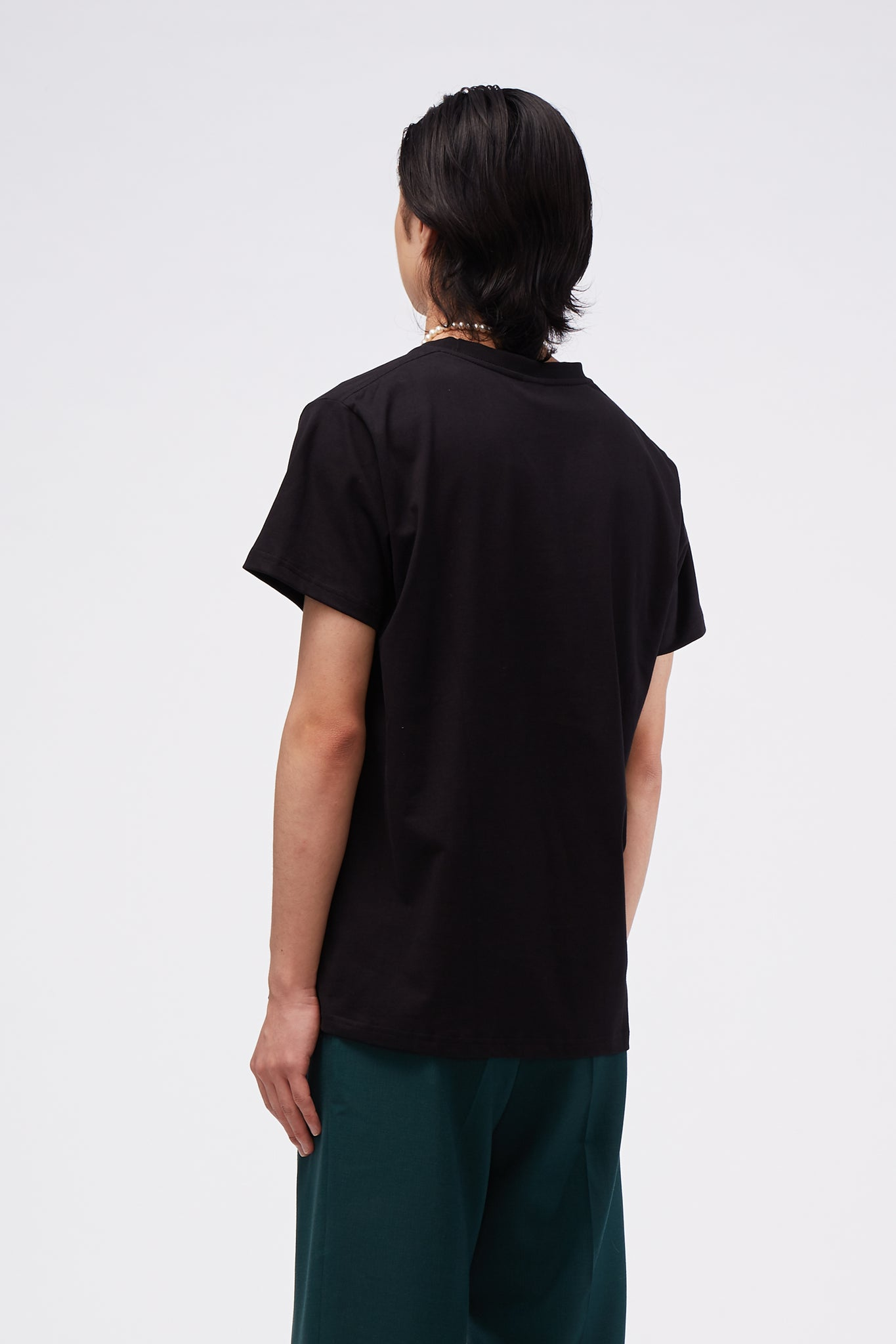 SECOND LAYER Outline T-Shirt Black