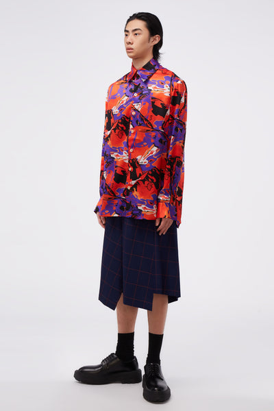 Ted Loose LS Shirt Psychedalic Ice Pattern
