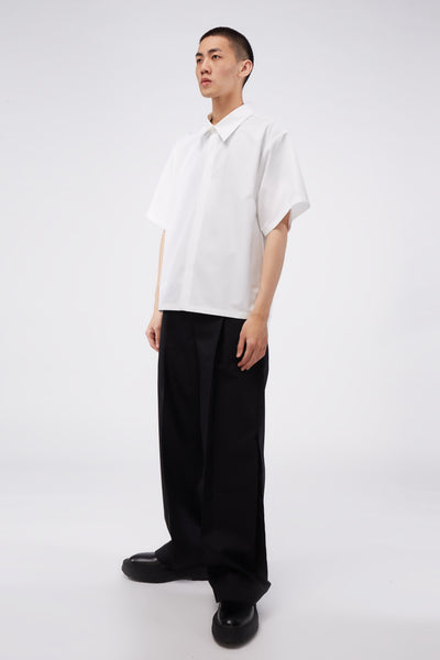 Wide Suit Trousers Black