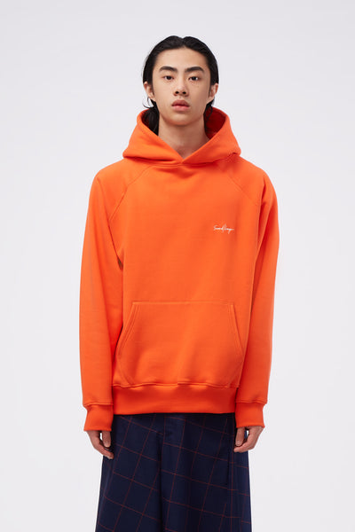 Second / Layer - Core Raglan Oversized Raglan Hoodie Orange