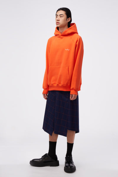Core Raglan Oversized Raglan Hoodie Orange