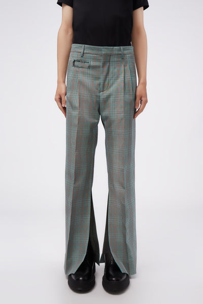 Marni - Split trousers Jade Check