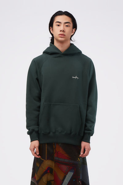Second / Layer - Core Raglan Oversized Raglan Hoodie Viridian