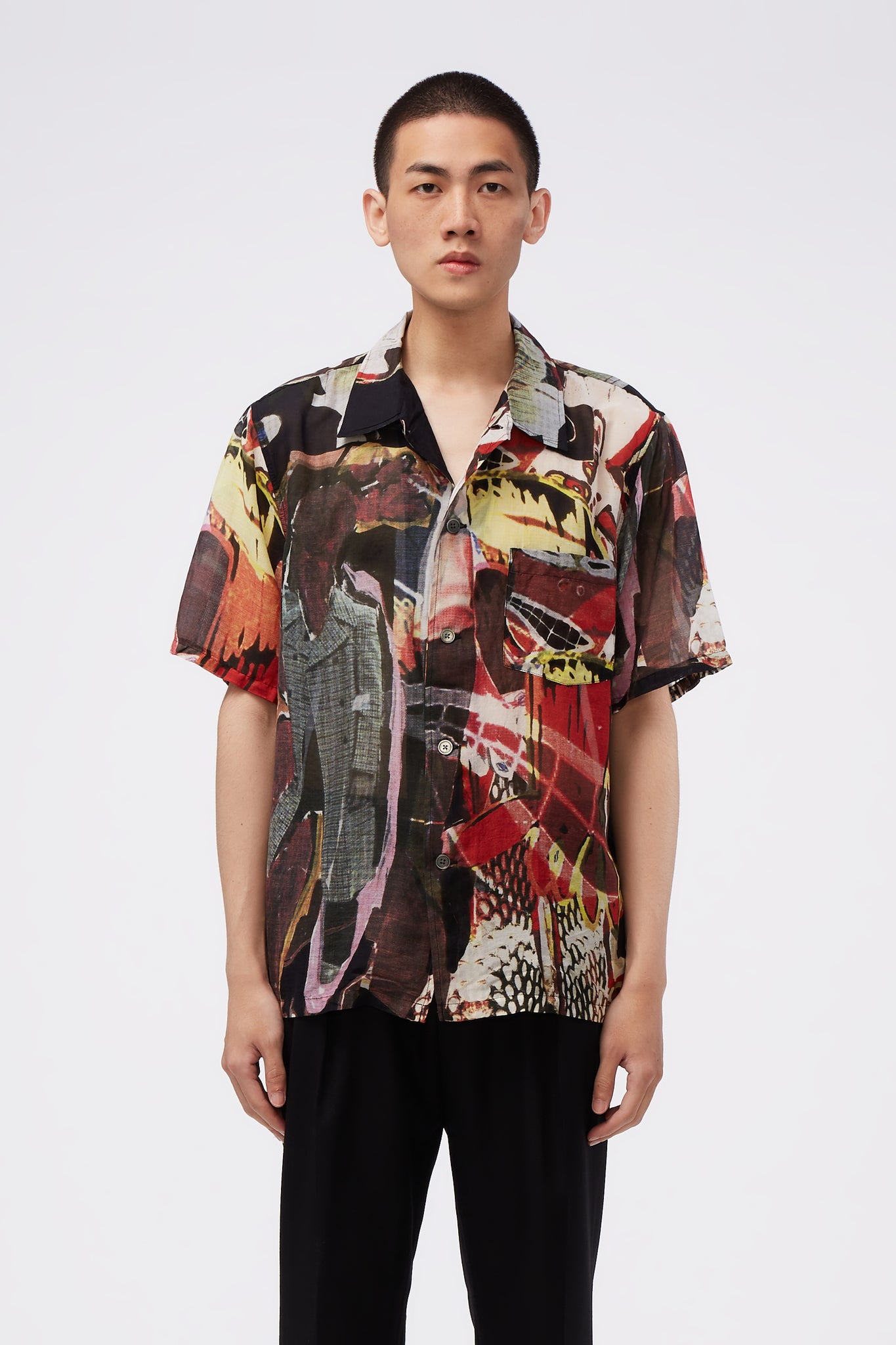 Box Short Sleeve All Over Peace Crowd Print
