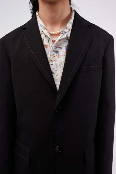 Single-breasted Blazer Black