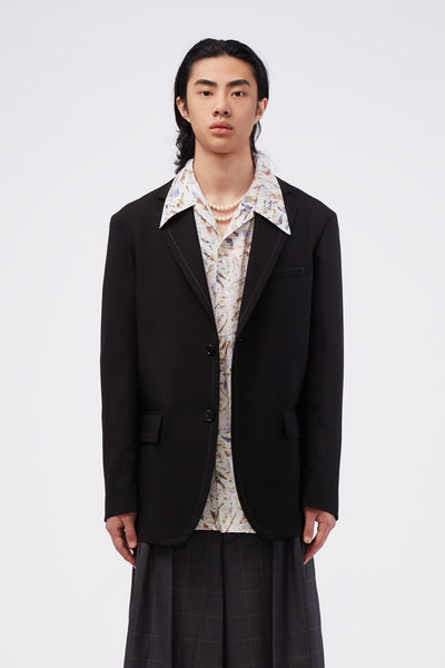Marni - Single-breasted Blazer Black
