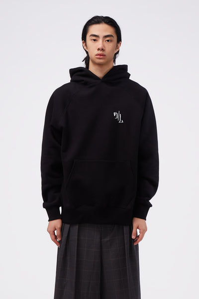 Second / Layer - Caddy Rosary Slim Raglan Hoodie Black