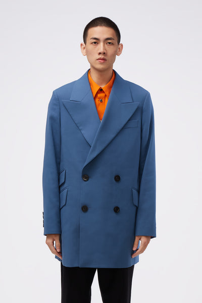 WOOYOUNGMI - Double Breasted Coat Blue