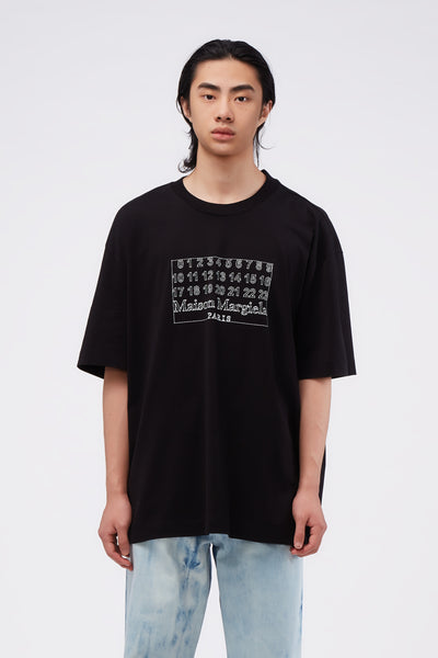 Maison Margiela - Number Logo Oversized Tee Black