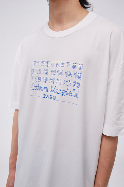 Number Logo Oversized Tee White