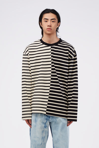 Second / Layer - Essential Ringer L/S Black Stripe