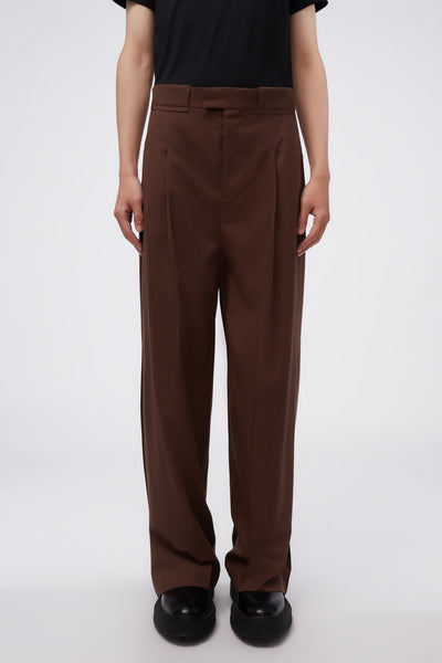Maison Margiela - Wide Suit Trousers Chocolate