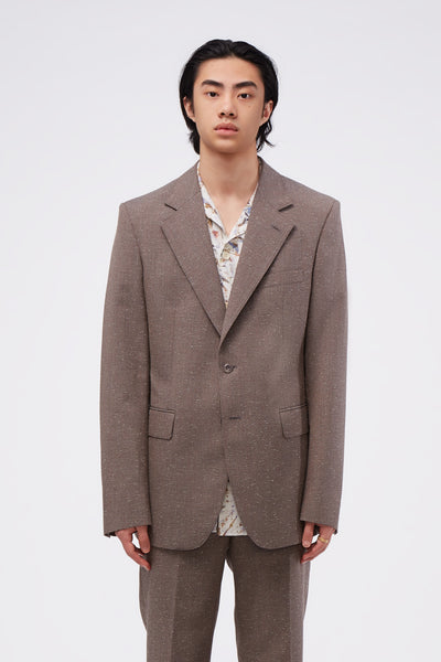 Lemaire - Single Breasted Jacket Grey/red Stripe